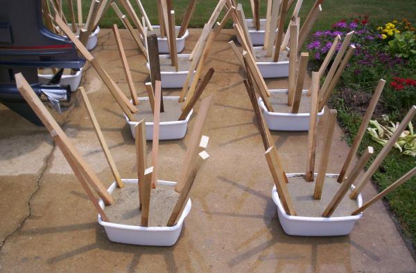 wood habitat stakes