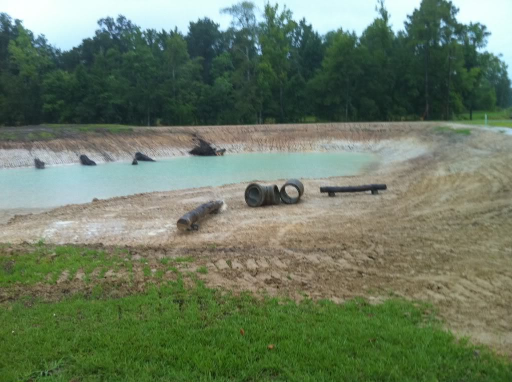 large cement pipe logs for fish habitat