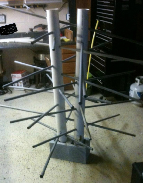 home made moss rack fish attractor